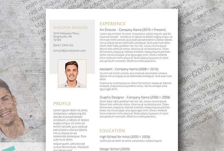 Clean and classy a free and elegant resume design
