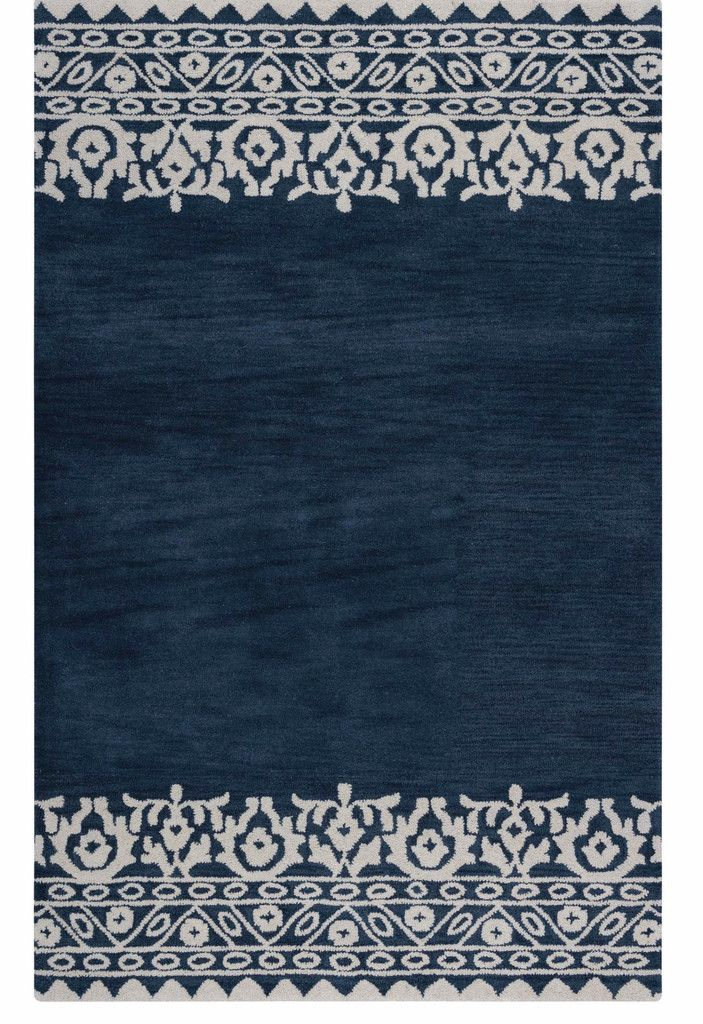 Mara Tribal Border Navy Rug Best Blue Area Rugs Blue Navy Indigo