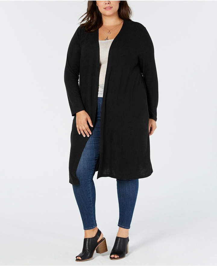 43f6bf5a65d Bcx Trendy Plus Size Open-Front Cardigan - Gray 2X in 2018 ...
