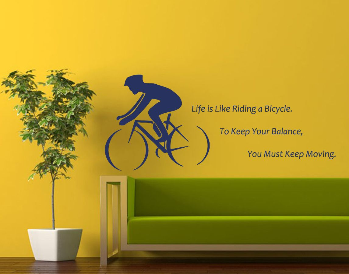 Quote Life Is Like Riding a Bicycle... Sport Cyclist | Sport as ...