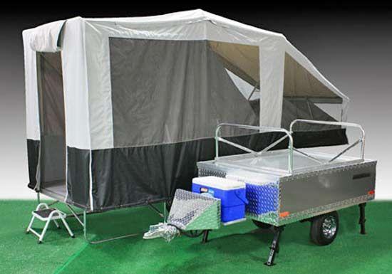 Quicksilver Motorcycle ATV C&er open and closed views & camping trailer teardrop | Arizona teardrop trailers lightweight ...