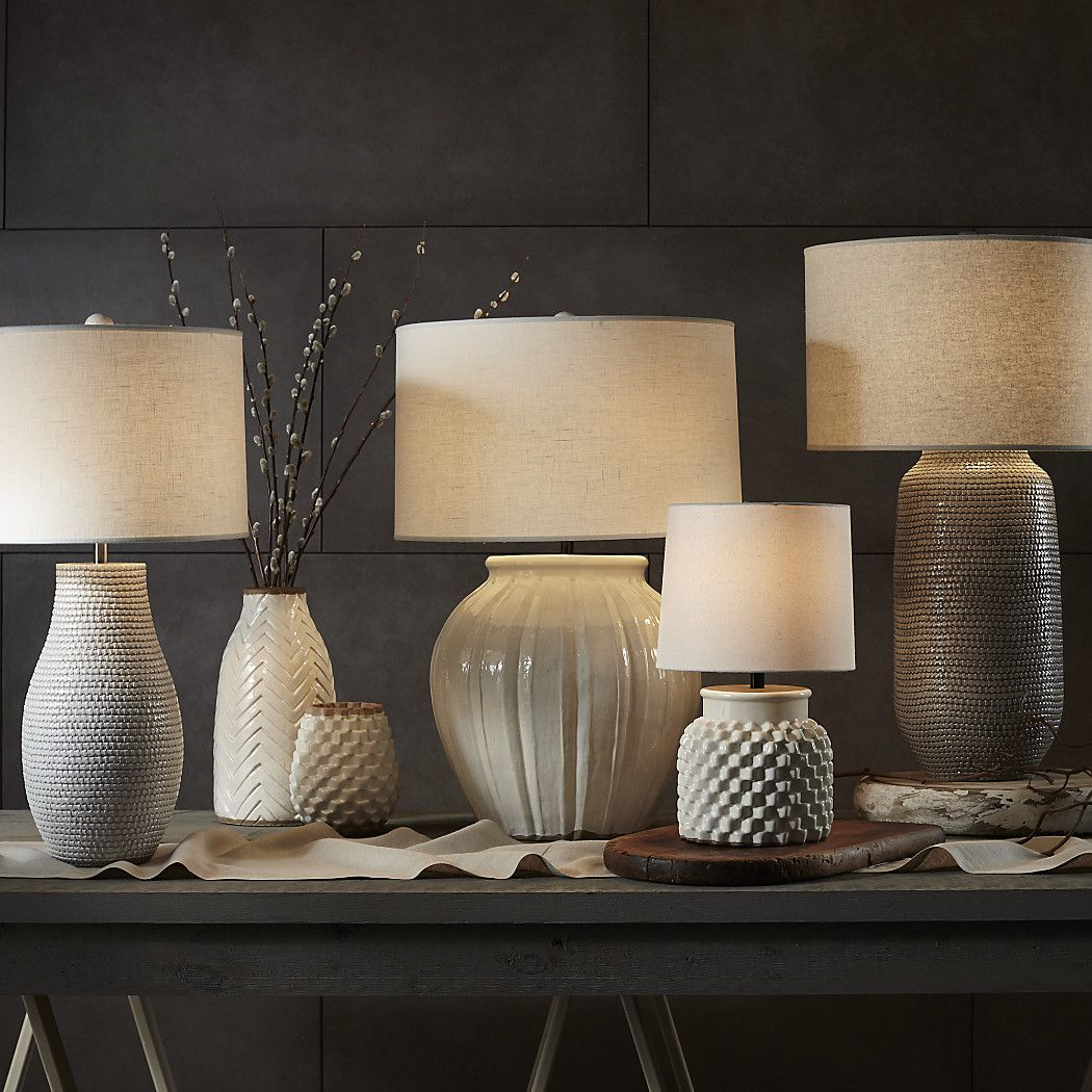 Cane White Table Lamp + Reviews Crate and Barrel Small
