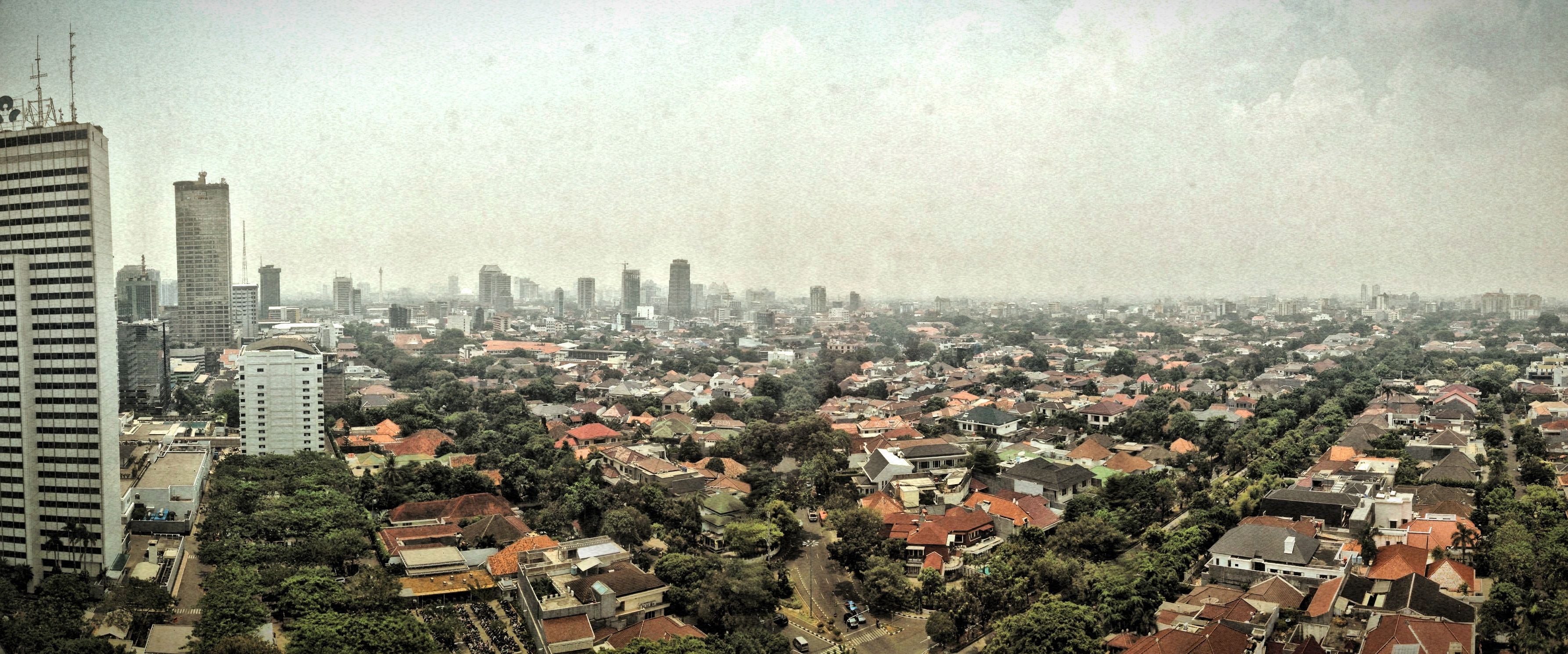 A view from the Deutsche Bank building, Central Jakarta