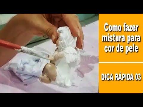 Mistura para Cor de Pele com Tinta Acrílica (ARTESANATO EM GESSO PASSO A PASSO)
