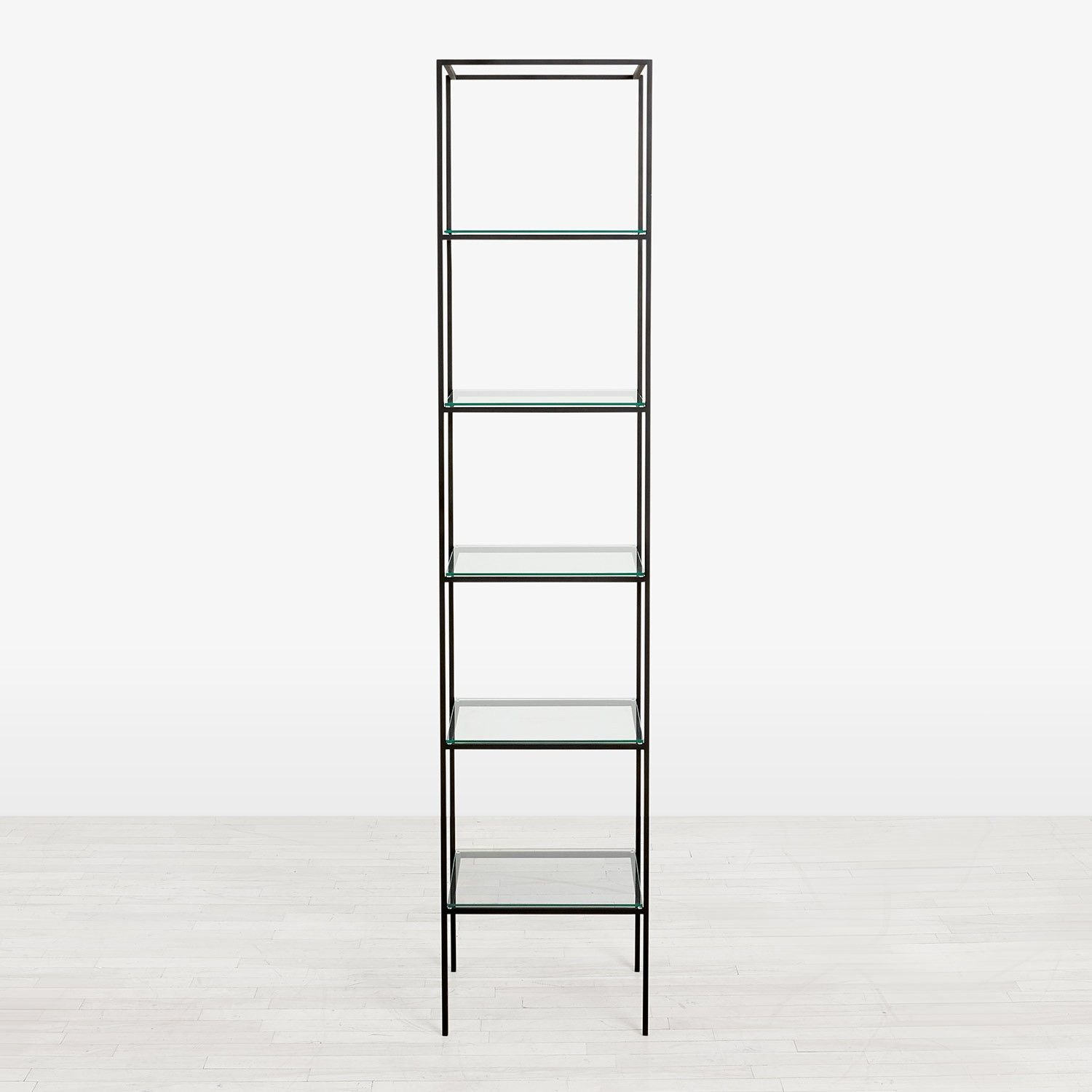 abcDNA Synthesis Glass 5Tier Narrow Shelving ABC Carpet