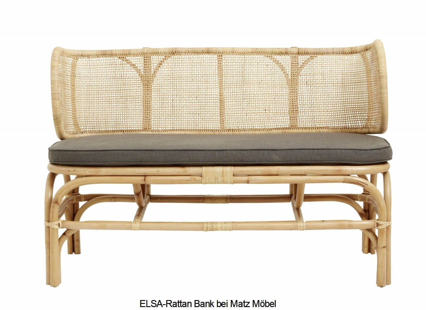 Elsa Rattan Bank Retro Mobel In 2020 Retro Mobel Rattan Bank Kleine Couch