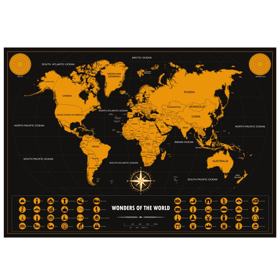 World scratch off map perfect gift for any travel personalized deluxe scratch off world map colorful travel poster with track and share your adventures drop shipping gumiabroncs Gallery