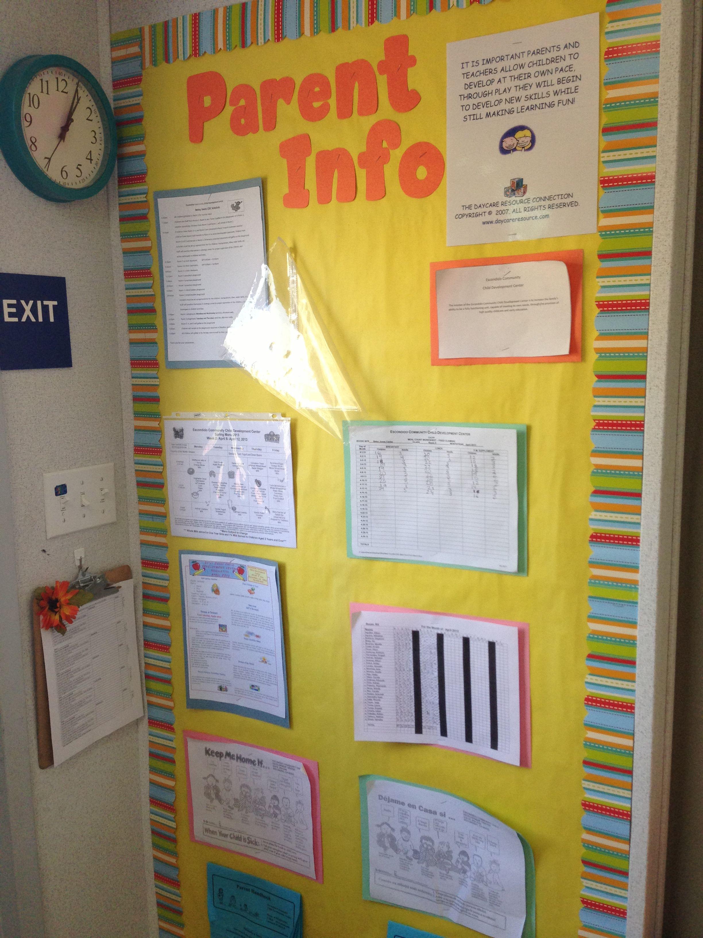 Parent info board | Preschool mom life | Pinterest | Parent board ...