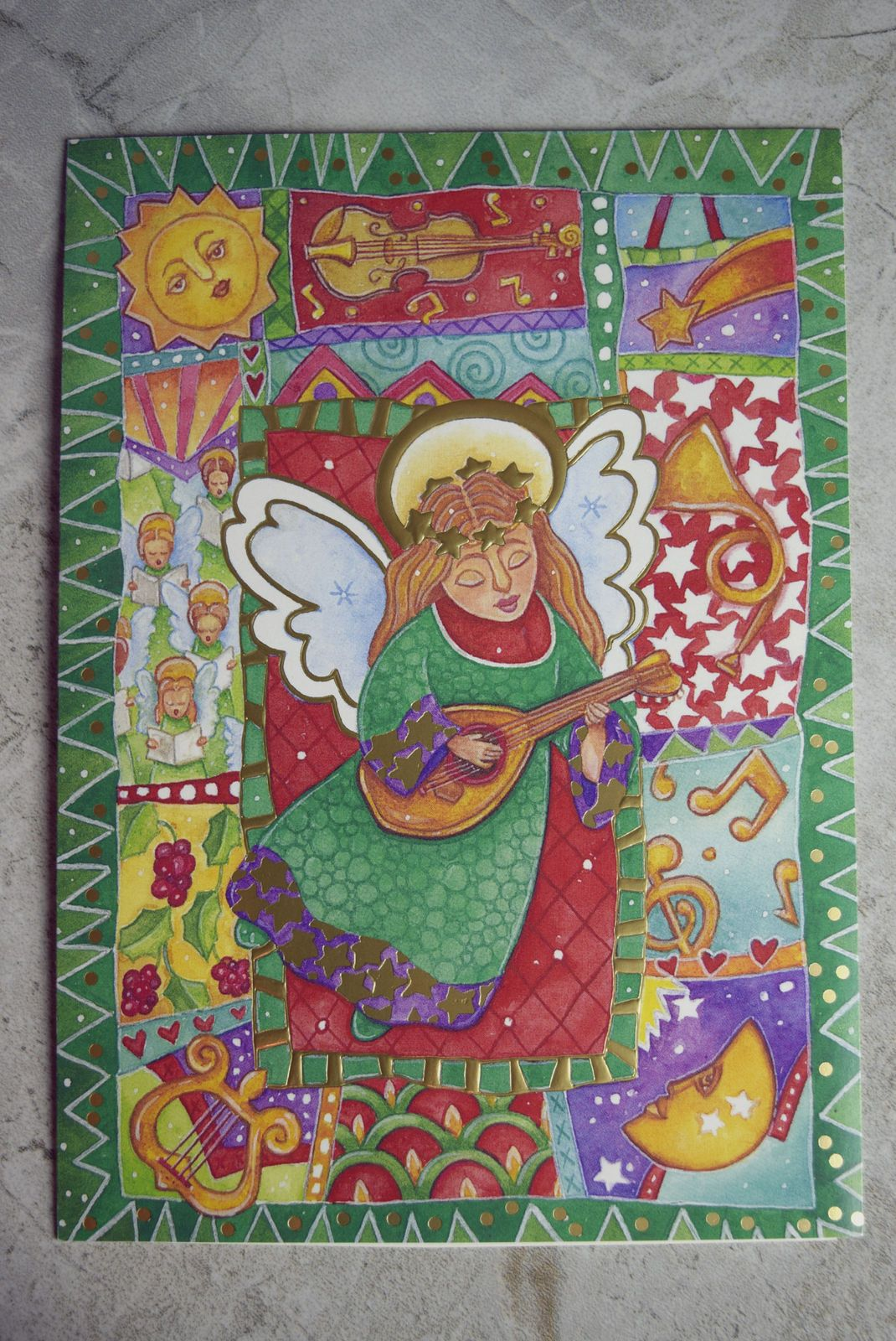 Paper Magic Group Christmas Card Greeting Card--Angels & Harps #ebay ...