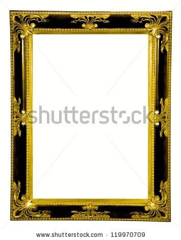 Beautiful Gold Old Vintage Frame Isolated On White Background By Wiktoria Pawlak Vintage Frames White Background Stock Photos
