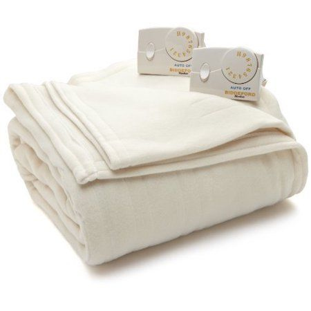 Biddeford Comfort Knit Electric Heated Blanket With Analog