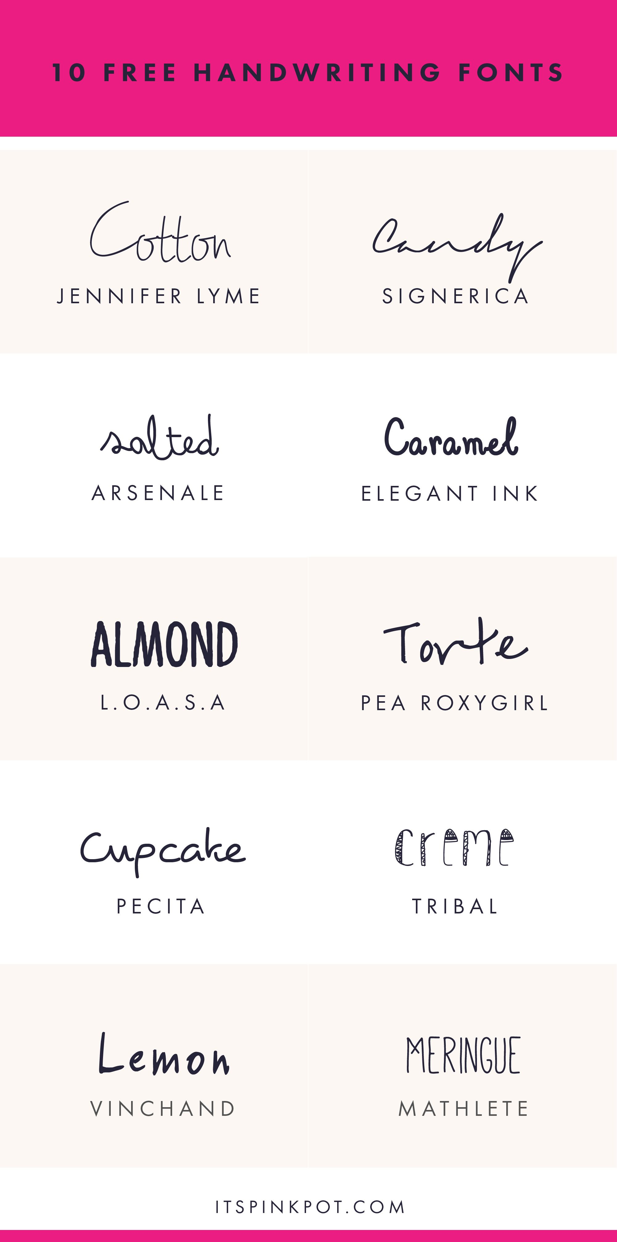Check Out These 10 Gorgeous Handwriting Fonts They Are All FREE Too So Enjoy You Will Love