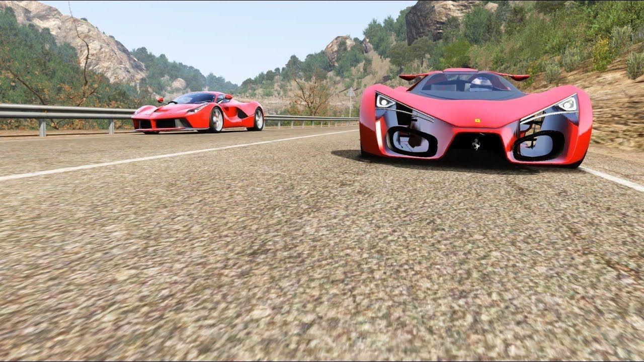 Ferrari F80 Concept vs Ferrari LaFerrari vs Ferrari FXX at Alto Tajo Poveda