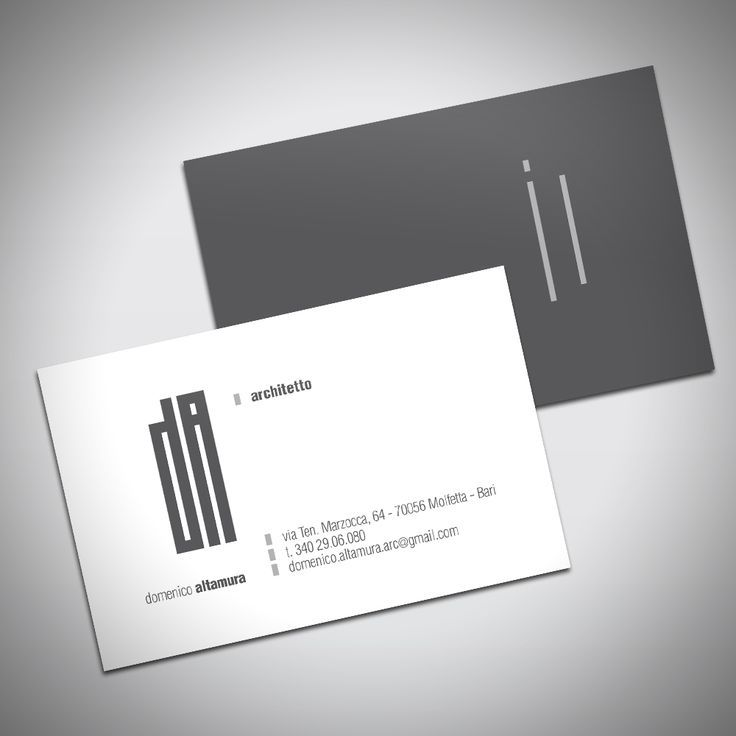 Mammagallo Portfolio Domenico Altamura Visitcard Business Card Design Simple Business Cards Architecture Business Cards