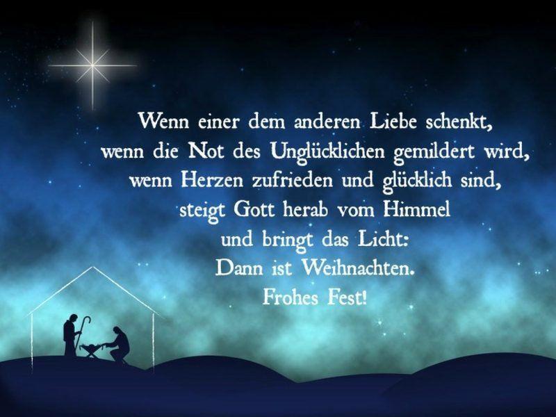 besinnliche Zitate für Weihnachten christlich die Bedeutung der Liebe