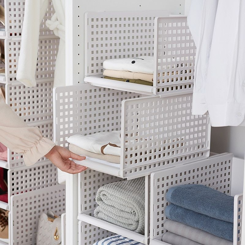 Detachable Clothes Organizer Wardrobe Partition Board Rack Drawer Clothes Storage Box Bedroom Multi Lay Clothes Storage Boxes Cube Storage Shelves Cube Storage