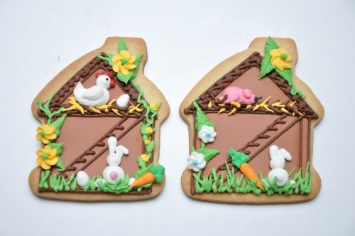 Bunny Hut (made with Gingerbread house cutter)