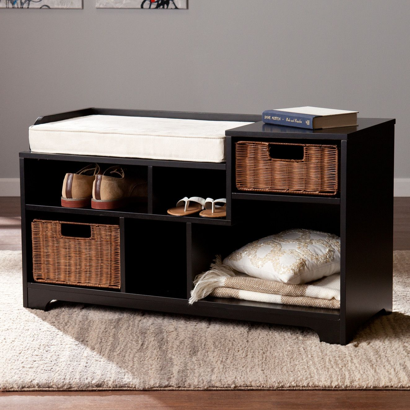 Darby Home Co Conde Upholstered Storage Entryway Bench | Entryway ...