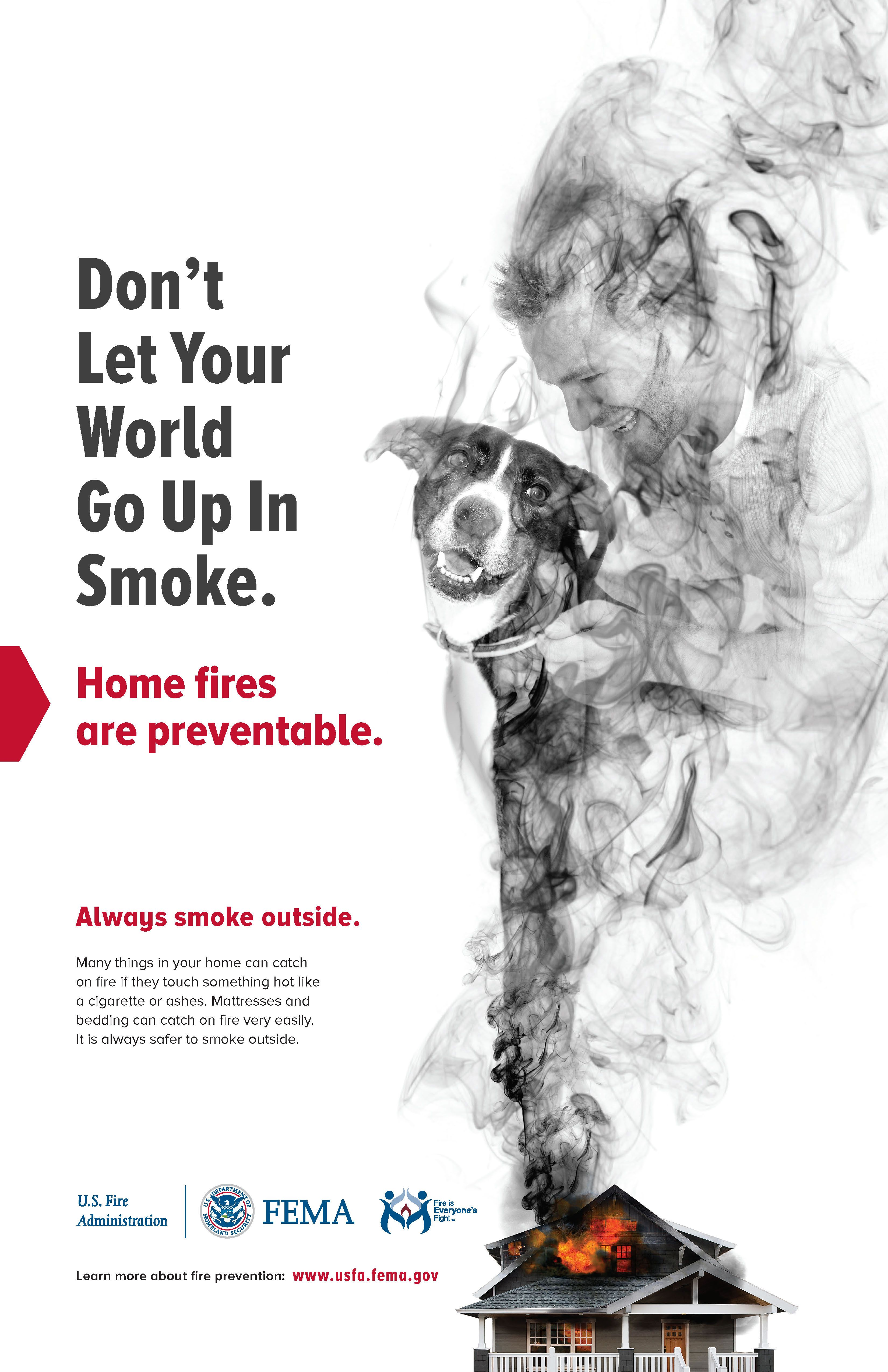 hight resolution of fema up in smoke poster