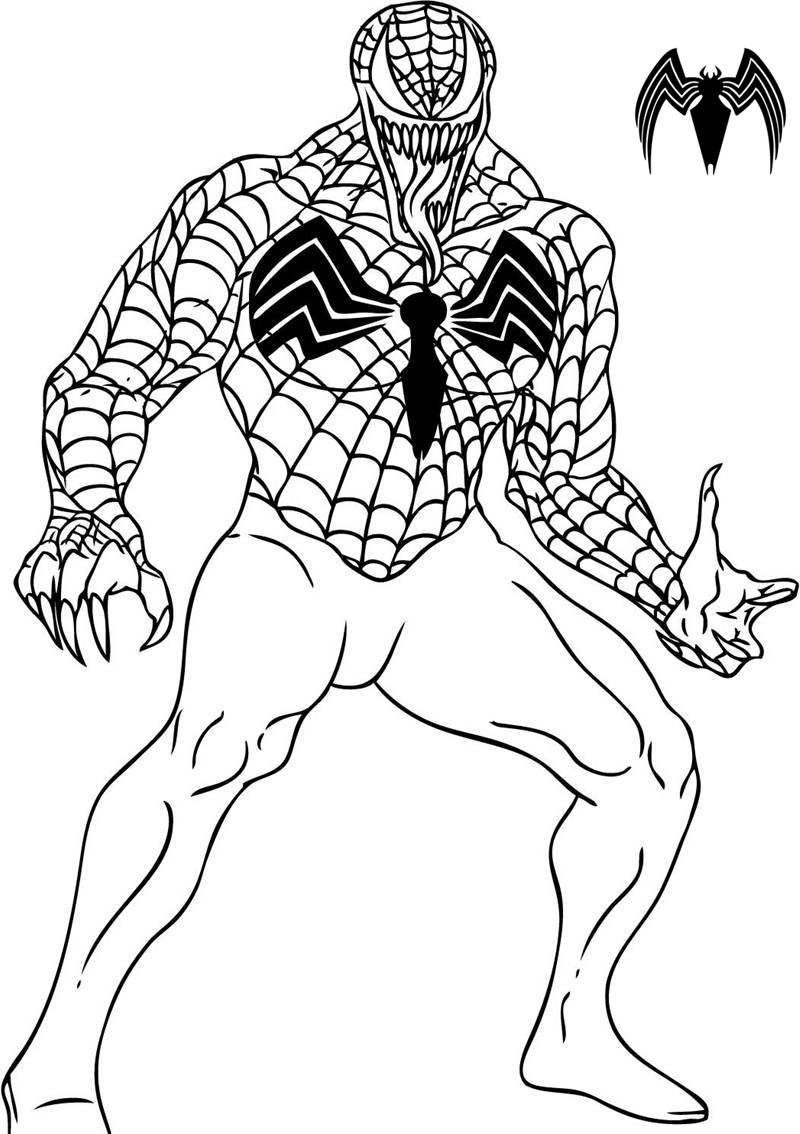 Pin On Spiderman Coloring