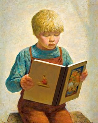 Chapin, James Ormsbee (1887-1975) Little boy reading