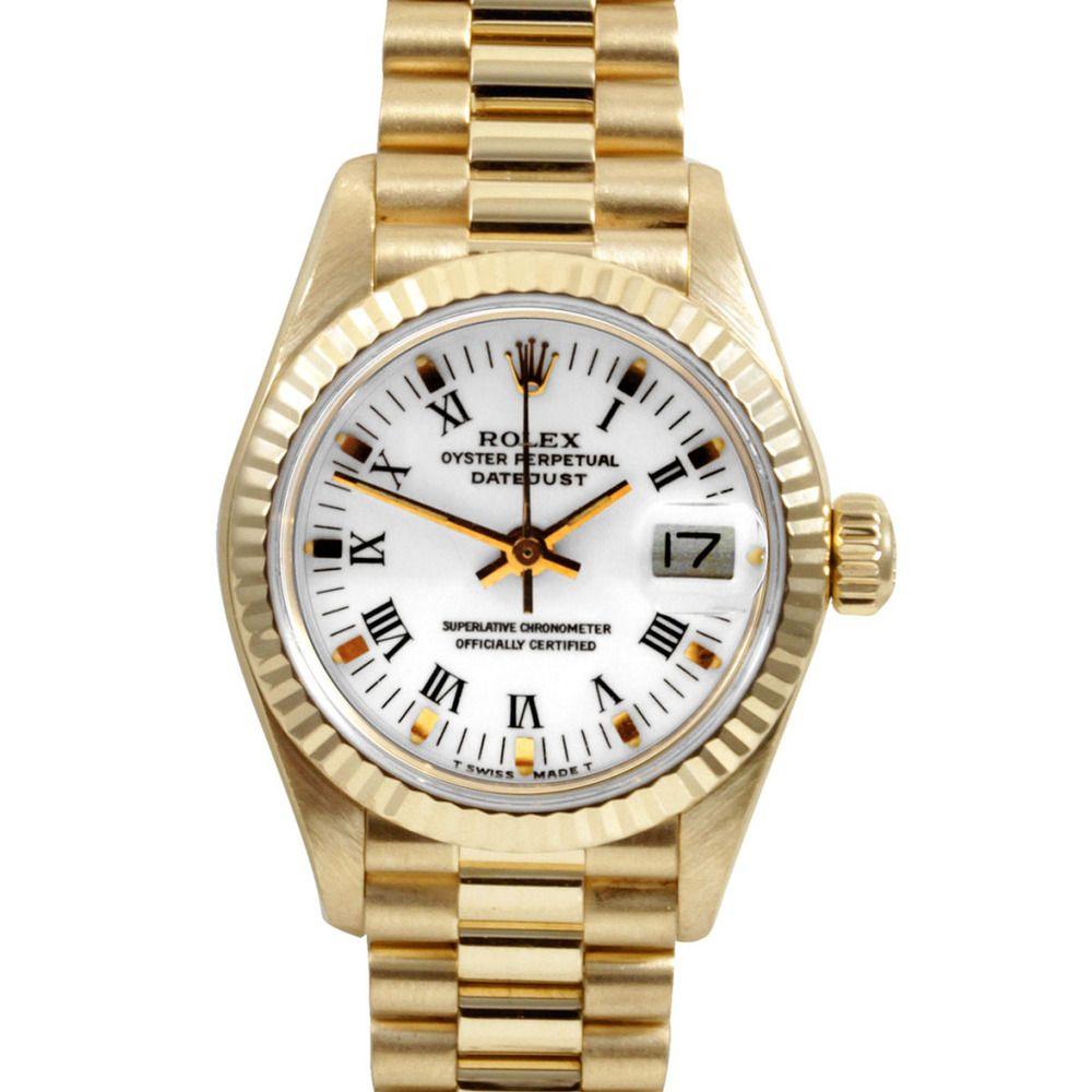 42e9612a216 Pre-owned Rolex Women s 18k Gold President Watch