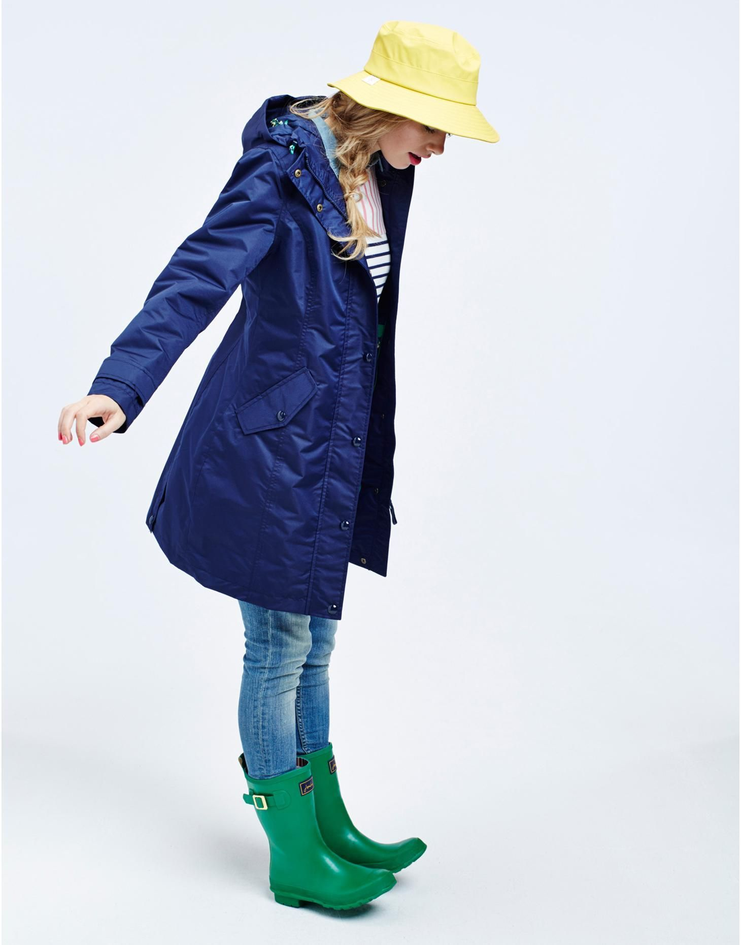 Joules Womens Longline Waterproof Coat, French Navy. This jacket ...