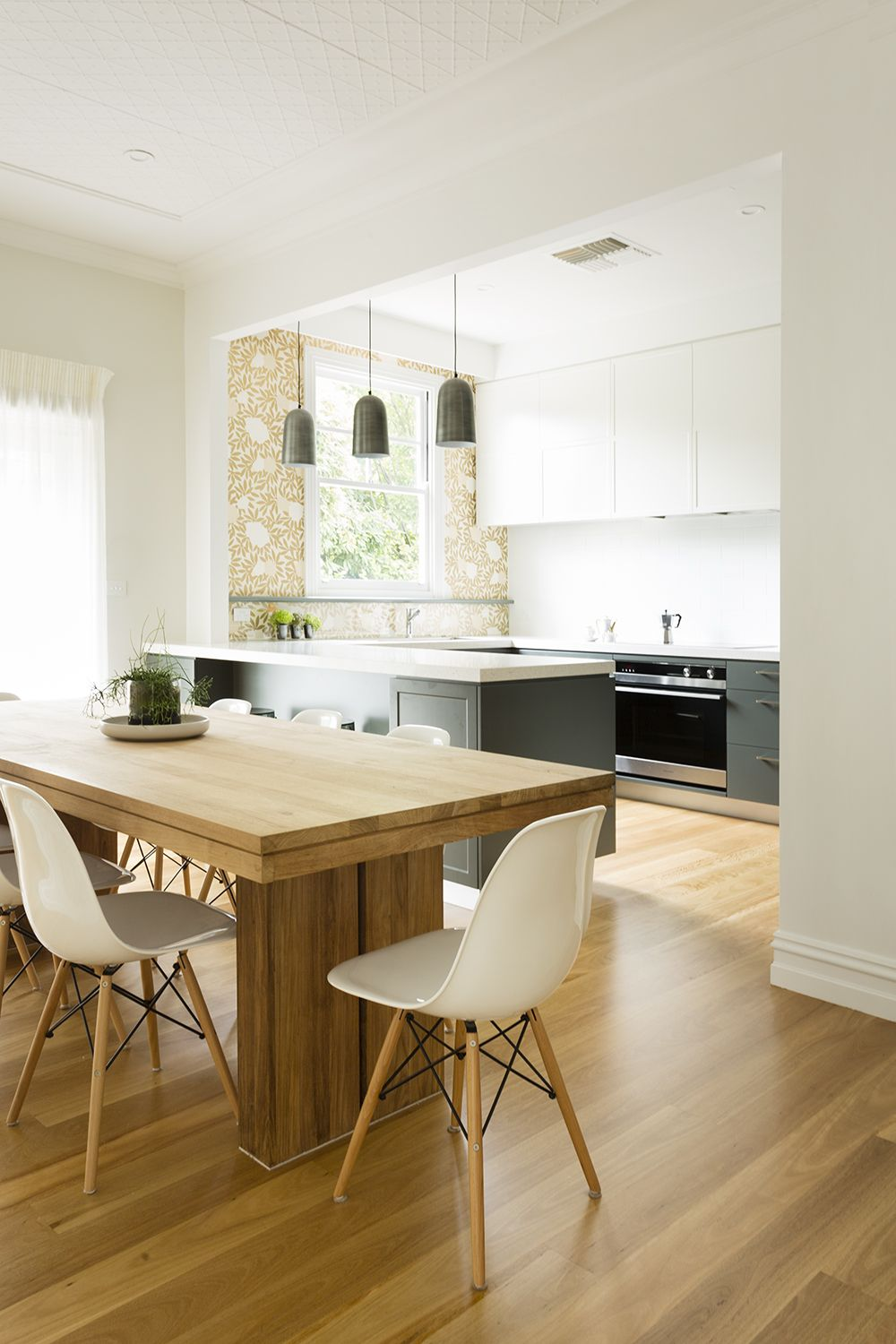 Interior design decoration melbourne meredith lee also kitchen and dining with wallpaper by rh pinterest