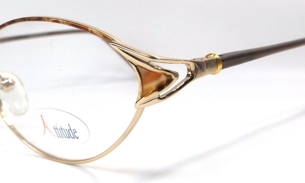bc4d537114 vintage 90s deadstock eyeglasses oval frames gold metal brown plastic  copper rust eye glasses eyewear smart simple classic traditional 129 by ...