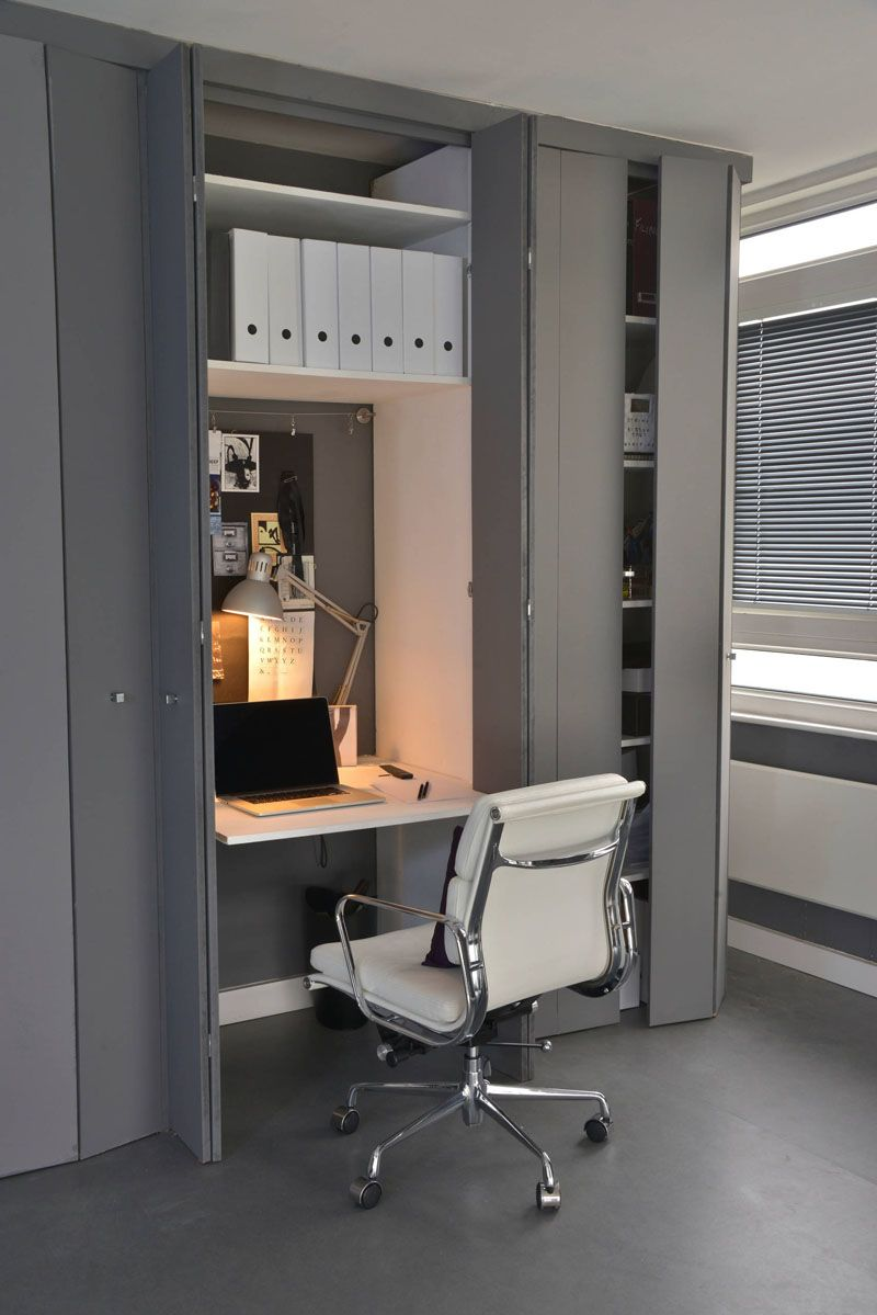 creating a small home office. Small Apartment Design Idea - Create A Home Office In Closet | This Is Just The Right Size For Well Organized Space, And If It Gets Creating