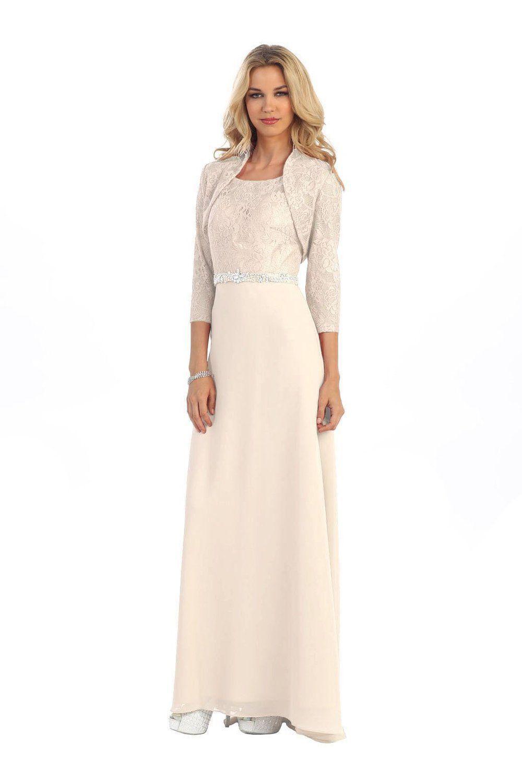 Long Mother Of Bride Plus Size Dress Bolero Jacket