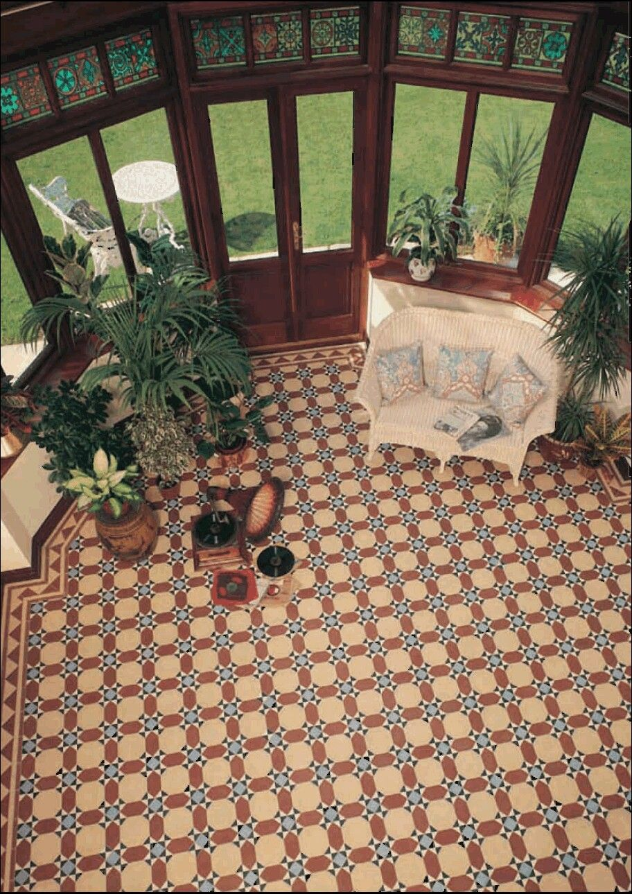 Pin by florencia alecci on back ideas pinterest interiors original style victorian tiles inverlochy pattern with byron border dailygadgetfo Image collections