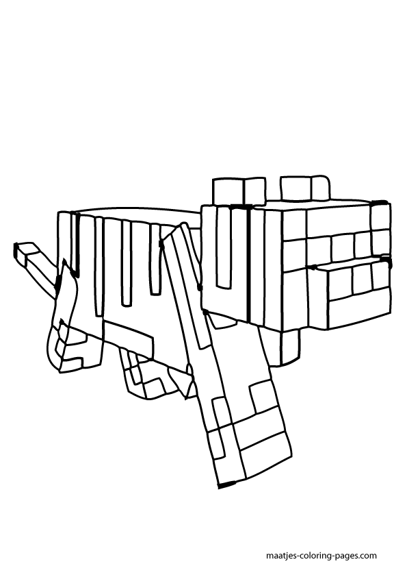 minecraft ocelot coloring pages cakepinscom