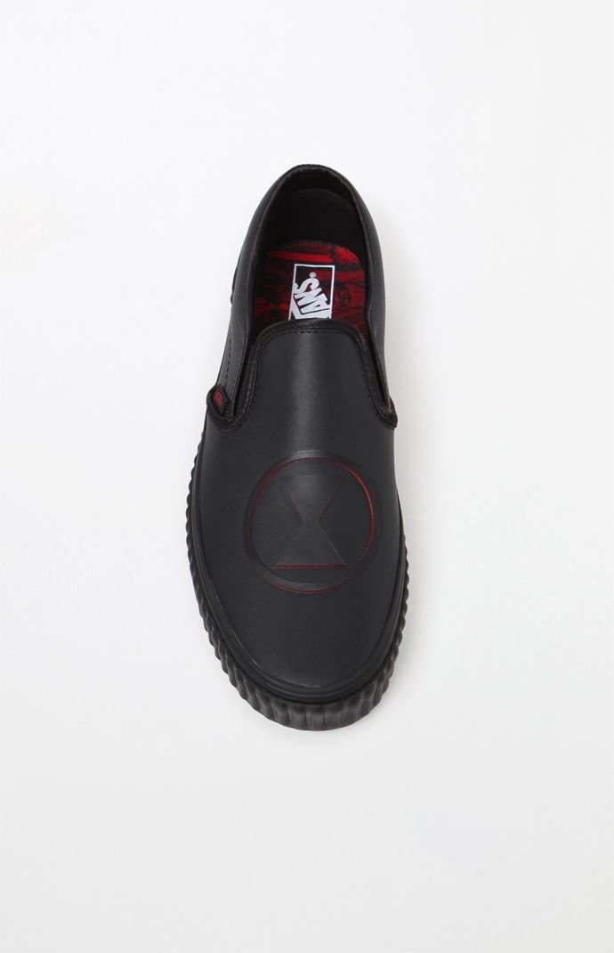 9fe90c0f2820ba Vans X Marvel Black Widow Classic Slip-On Shoes - M 8