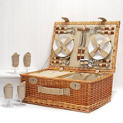 sutton deluxe panier de pique nique de luxe pour 4. Black Bedroom Furniture Sets. Home Design Ideas