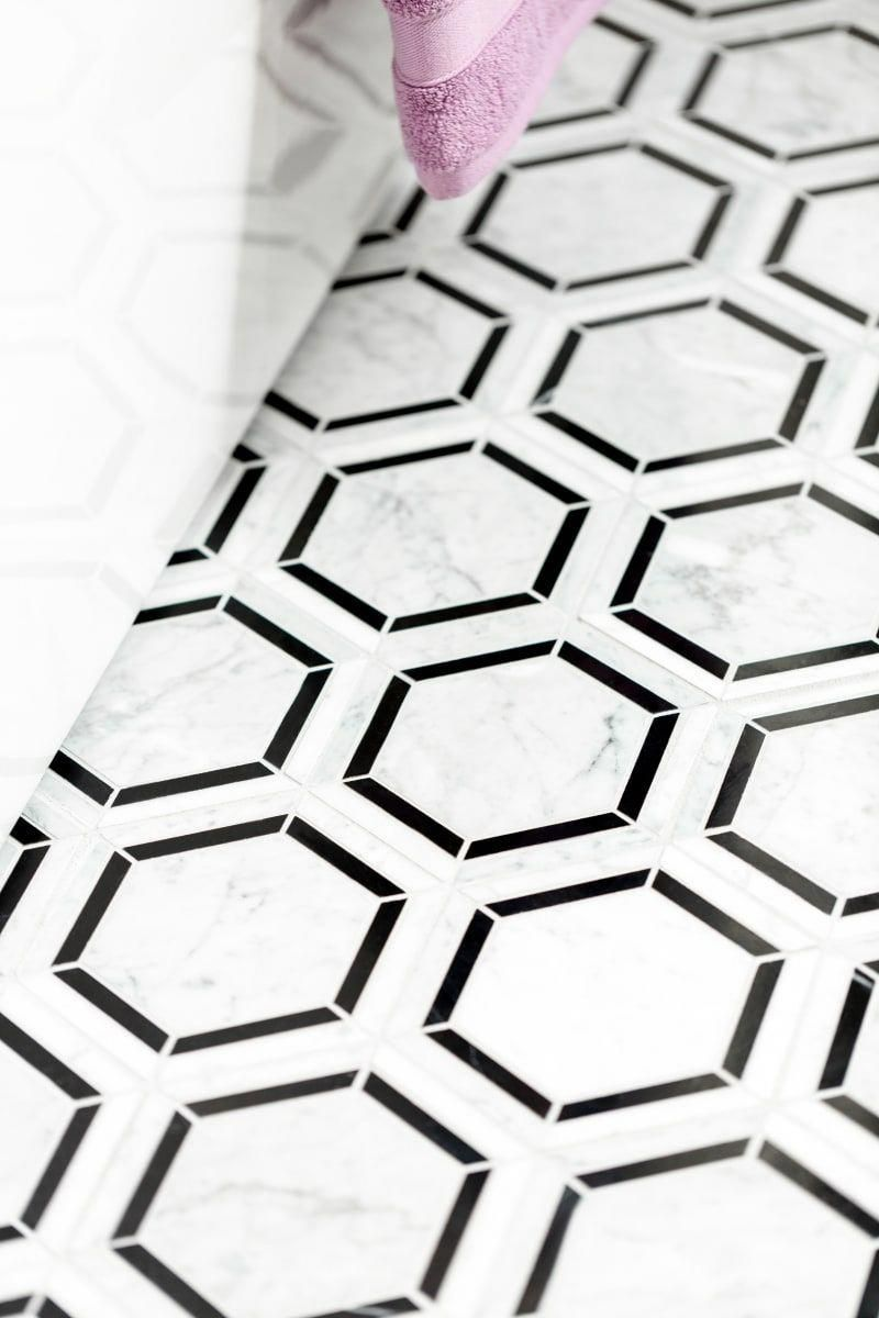 Daltile M6hexmsl Build Com Hexagonal Mosaic Daltile Tile Floor