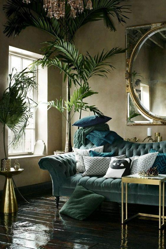 Deze Kleur Past Het Beste Bij Jouw Sterrenbeeld Art Deco Living Room Tropical Decor Living Room Tropical Living Room