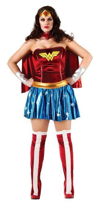 Womens Plus Size Wonder Woman Costume #Halloween #HalloweenCostume - halloween costume ideas plus size