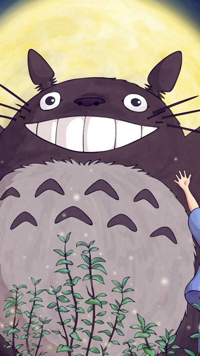 Totoro Forest Anime Cute Illustration Art Blue IPhone 5s Wallpaper