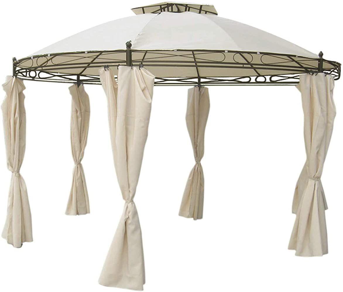 Unbekannt Pavillon Rund 35 M Beige Inkl Seitenteile Wasserdicht Geschenksachen Geschenkideen Mobel Mobel Partyzelt Luxus Zelten