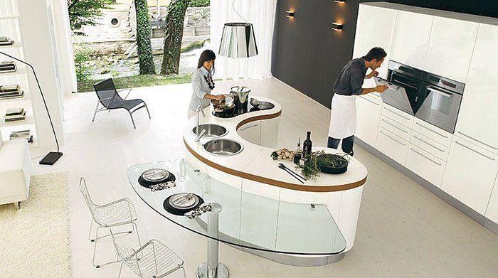 CUISINE RONDE | Décoration intérieure | Modern kitchen island ...