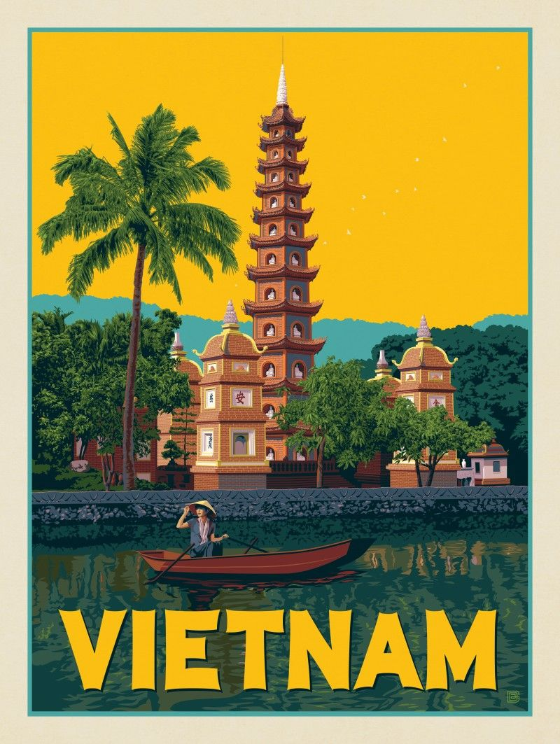 Vietnam Hanoi Anderson Design Group Retro travel