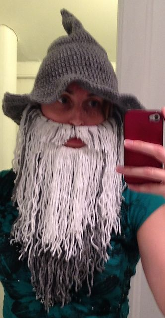 Ravelry: Crochet Beard (Viking or Wizard) pattern by Reckless Stitches #crochetedbeards