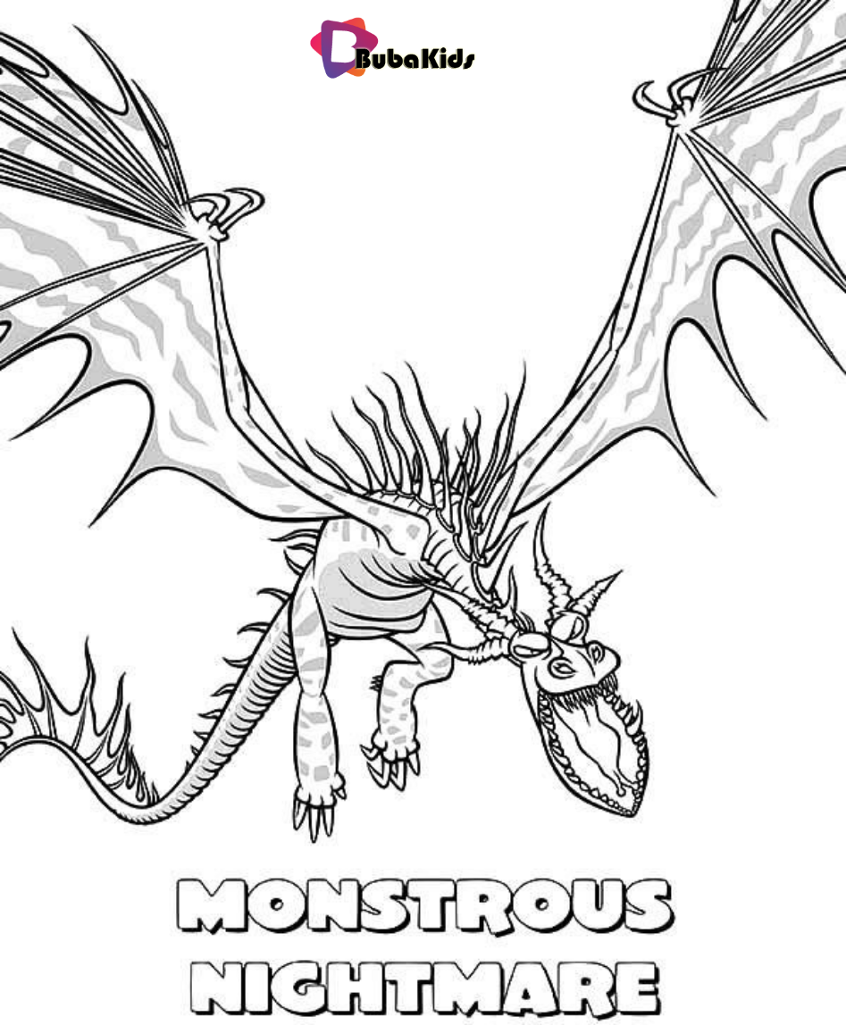 How To Train Your Dragon Coloring Pages Nightmare Coloring Dragon How To Train Your Drag Dragon Coloring Page How Train Your Dragon How To Train Your Dragon