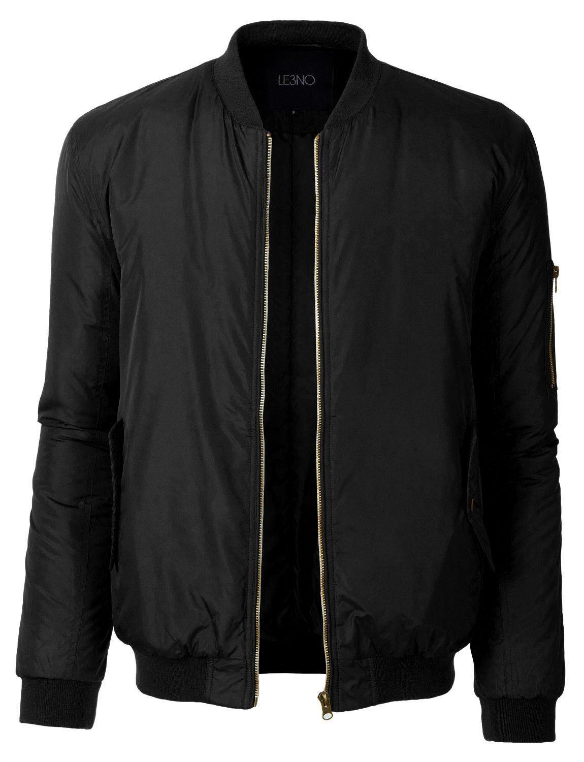 98b42664785 This classic fully lined zip up bomber jacket with pockets is the essential  piece you must add to your wardrobe. Sleek