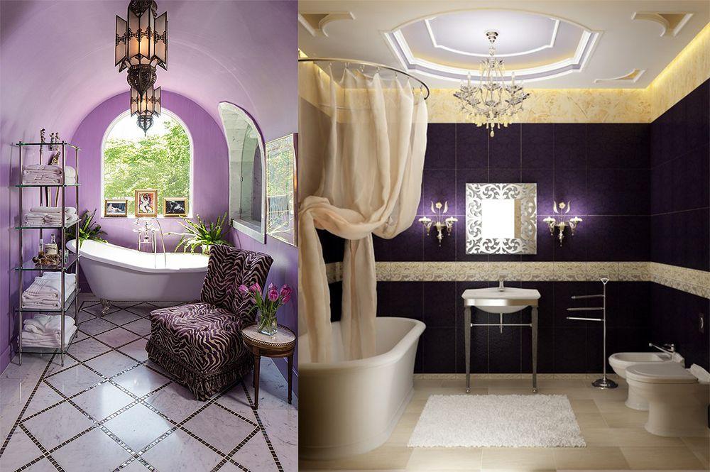 Contemporary bathroom design magic purple bathroom ideas