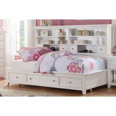 Harriet Bee Duran Storage Platform Bed Size Twin Color White