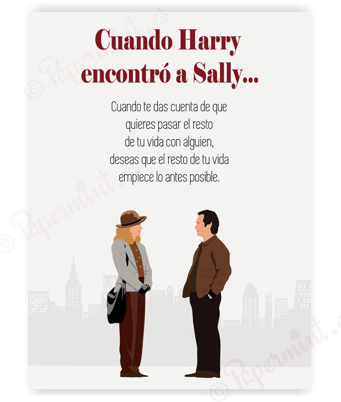 Cuando Harry Encontró A Sally Póster Con Frase Del Final De