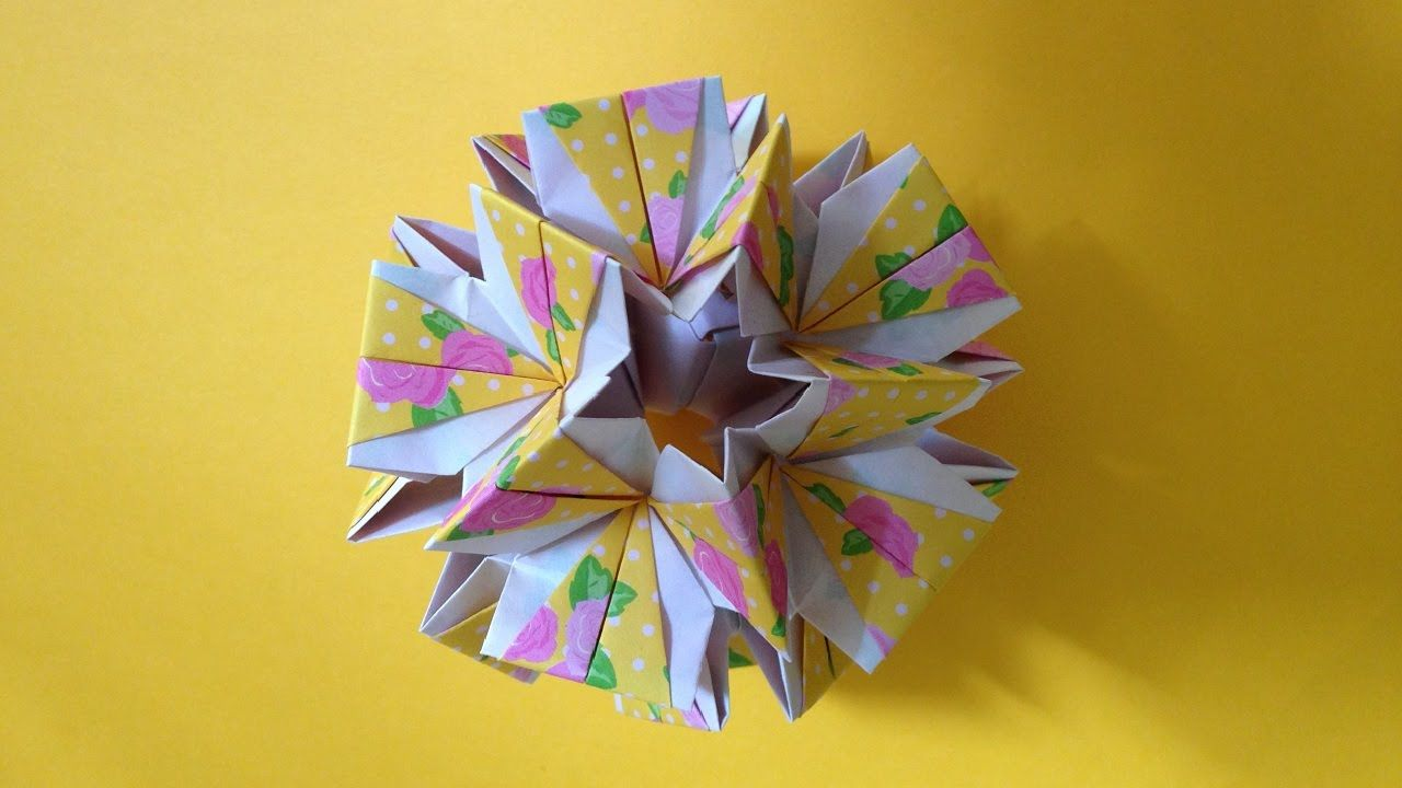 Air origami kusudama-butterfly own hands
