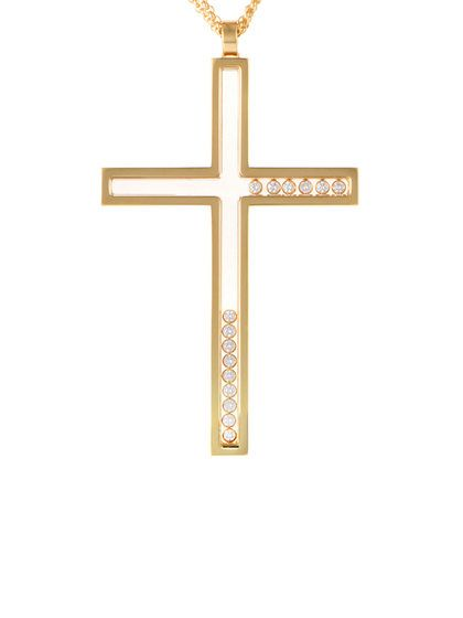 Vintage Chopard Happy Diamonds 18k Yellow Gold Cross Pendant Necklace By Chopard At Gilt